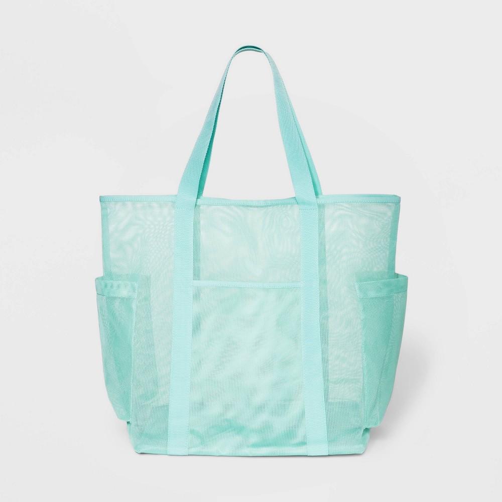 Image of Mesh Tote Handbag - Shade & Shore Green