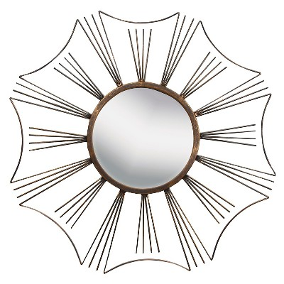"""23.62"""" x 23.62"""" Like a Sun Decorative Mirror - PTM Images"""