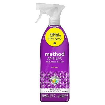 Method Cleaning Products Antibacterial Cleaner Wildflower Spray Bottle 28 fl oz