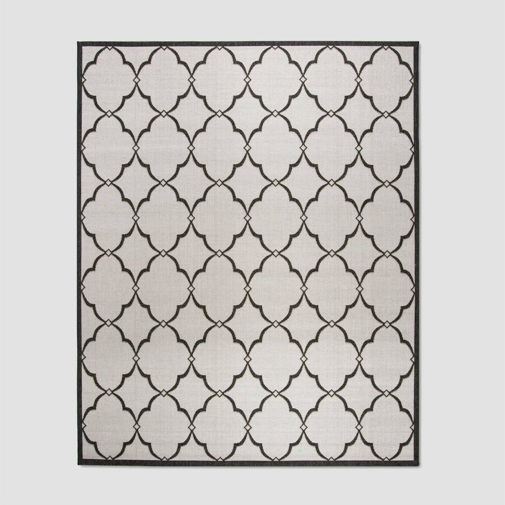 7'10 x 10' Cordia Outdoor Rug Light Gray/Charcoal - Safavieh