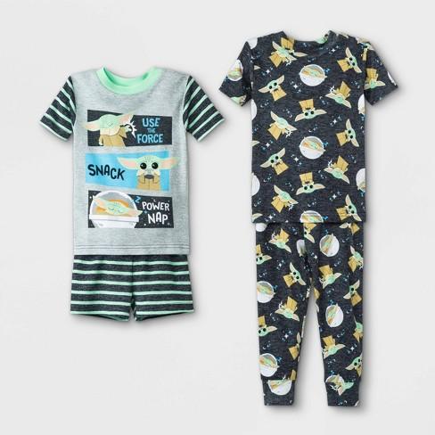 Toddler Boys' 4pc Star Wars Baby Yoda Pajama Set - Gray - image 1 of 1