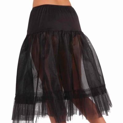 Forum Novelties Black Tea Length Costume Crinoline Slip Adult One Size Fits Most