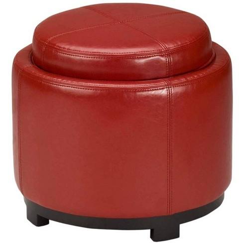 Astounding Storage Ottomans Red Safavieh Machost Co Dining Chair Design Ideas Machostcouk
