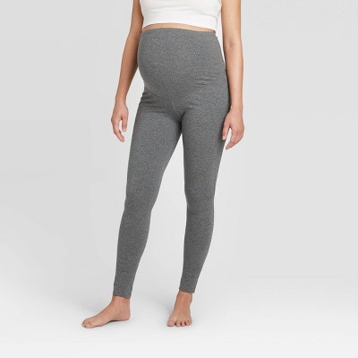 Crossover Panel Cotton Knit Maternity Leggings - Isabel Maternity by Ingrid & Isabel™