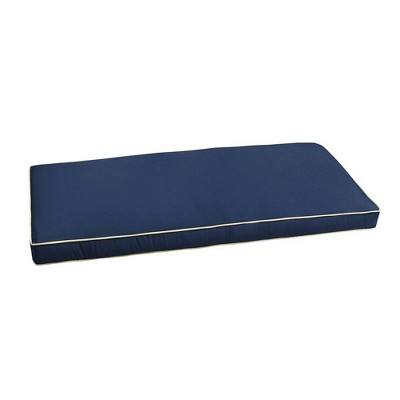 Sunbrella Outdoor Bench Cushion Navy Blue/Ivory