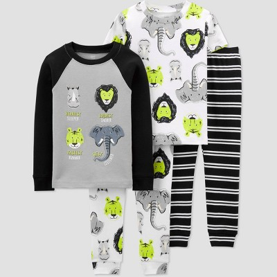 Toddler Boys' 4pc Safari Pajama Set - Just One You® made by carter's Gray/Yellow/Black