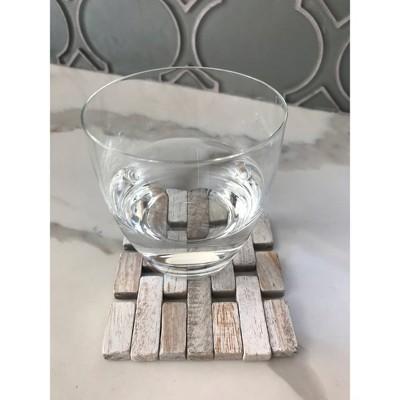 4pk Rosewood Coasters White - Hip-o Modern Living