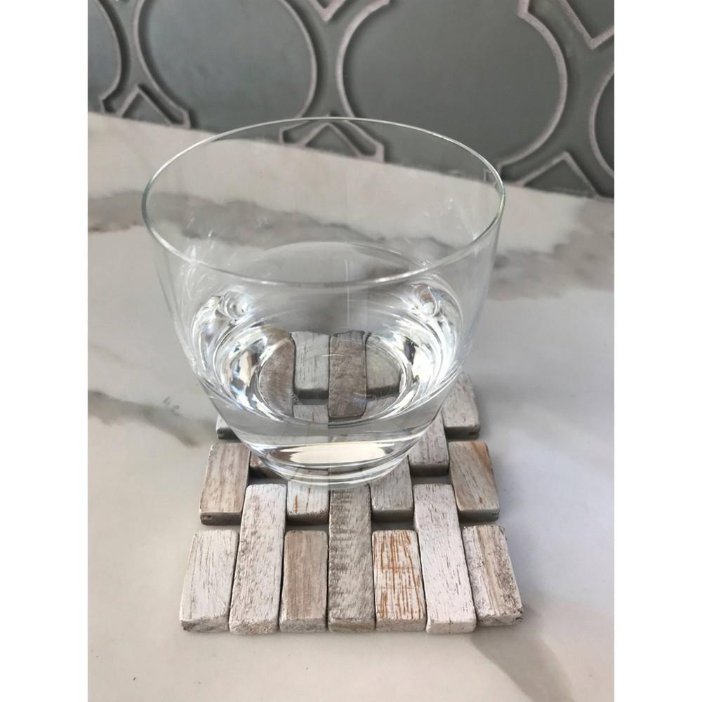 Image of 4pk Rosewood Coasters White - Hip-o Modern Living