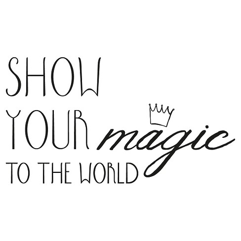 Show Your Magic Wall Decal - Black - image 1 of 2