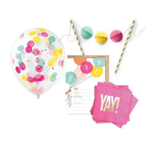 """Yay"" Birthday Brights Party Kit - image 1 of 4"