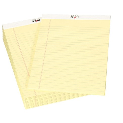 School Smart Legal Pad, 8-1/2 x 11-3/4 Inches, Canary, 50 Sheets, pk of 12 - image 1 of 1