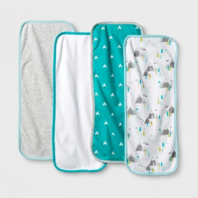 Baby Boys' 4pk Burp Cloth Cloud Island™ - Blue/Gray