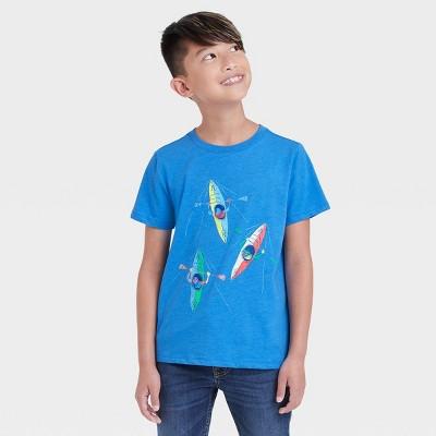 Boys' Kayaking Graphic Short Sleeve T-Shirt - Cat & Jack™ Blue