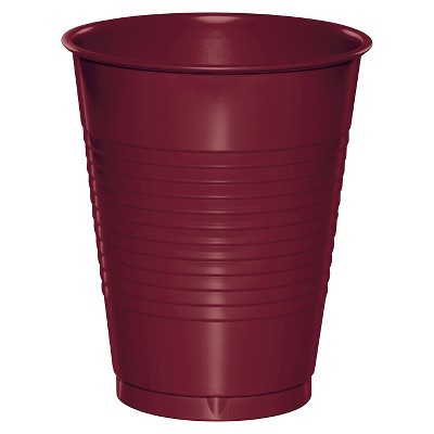 20ct Burgundy Red Disposable Cups