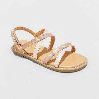 Toddler Girls' Mabyn Ankle Strap Sandals - Cat & Jack™ Rose Gold 8