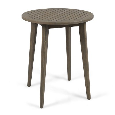 Stamford Round Acacia Wood Bistro Table - Gray - Christopher Knight Home