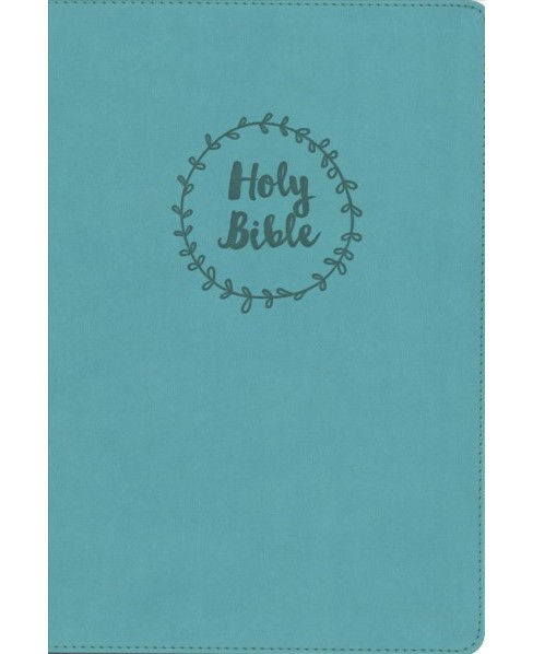 Holy Bible : New International Version, Turquoise Leathersoft, Black Letter -  Large Print (Paperback) - image 1 of 1