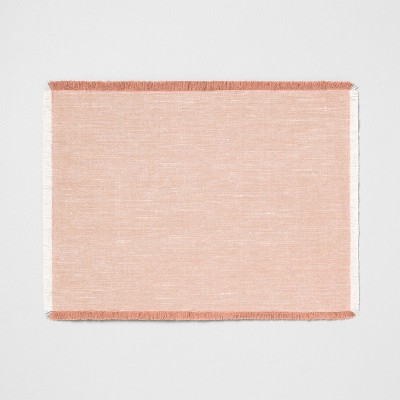 Cross Dyed Placemat - Rose Gold - Hearth & Hand™ with Magnolia