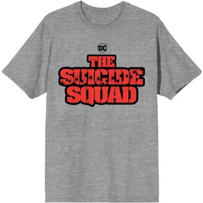 The Suicide Squad Movie Logo Heather Grey Graphic Tee