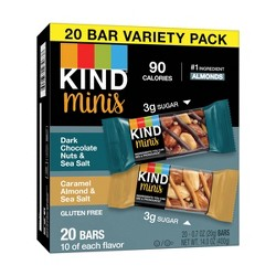 KIND Minis Dark Chocolate & Caramel Almond - 20ct
