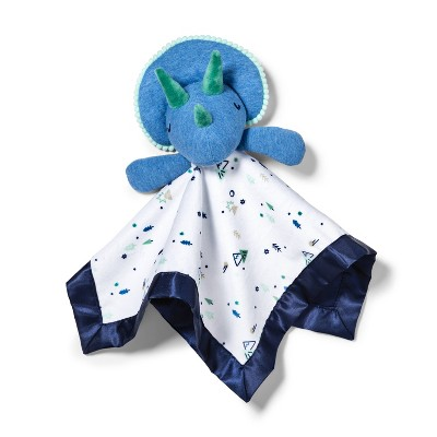 Small Security Blanket Blue Dino - Cloud Island™ Blue/White