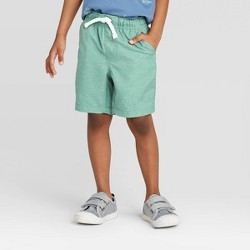 Toddler Boys' Quick Dry Solid Pull-On Chino Shorts - Cat & Jack™ Green
