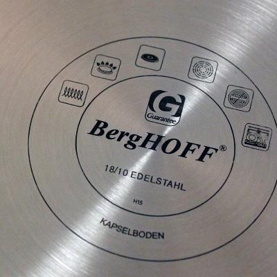 """BergHOFF Essentials 9.5"""" 18/10 Non-Stick SS Fry Pan 1.9 Qt  - Manhattan"""