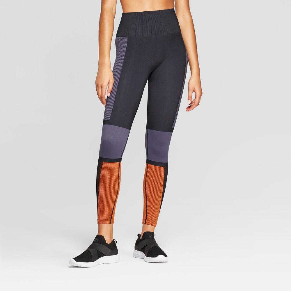 Women's High-Waisted 7/8 Seamless Leggings - JoyLab Black XS