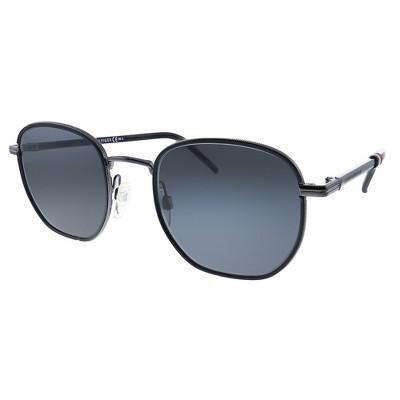 Tommy Hilfiger TH 1672/S V81 Unisex Rectangle Sunglasses Dark Ruthenium Black 50mm