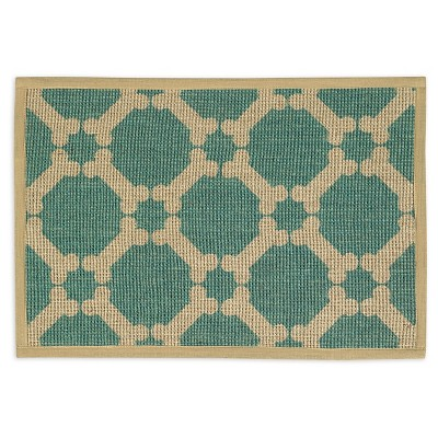 Buddy's Line Natural Jute Placemats - Teal (13 X9 )