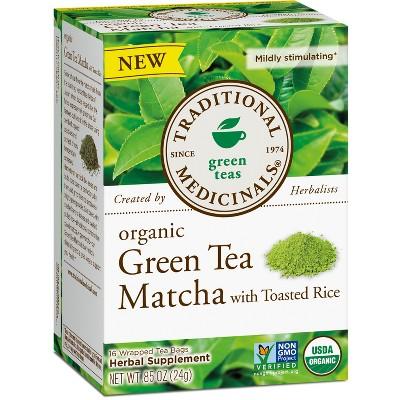 Traditional Medicinals Organic Green Tea Matcha Tea Bags - 16ct