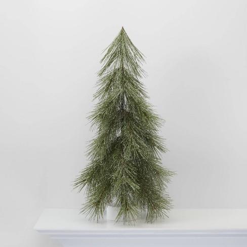 Large LIT Flocked Hard Needle Tree Decorative Christmas Figurine - Wondershop™ - image 1 of 4
