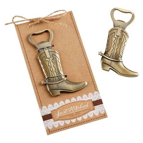 "12ct Kate Aspen ""Just Hitched"" Cowboy Boot Bottle Opener - image 1 of 1"