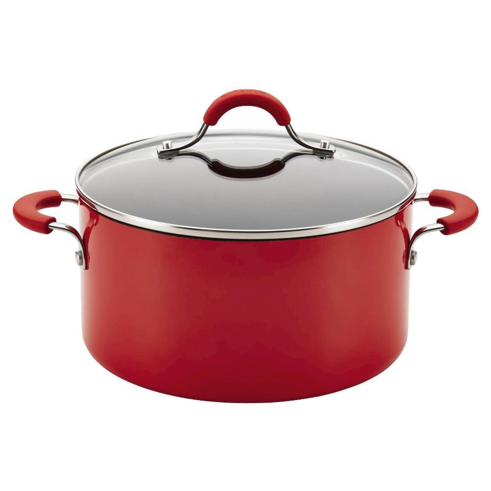 Image of Circulon Innovatum Aluminum Nonstick 4.5 Quart Covered Pot - Red