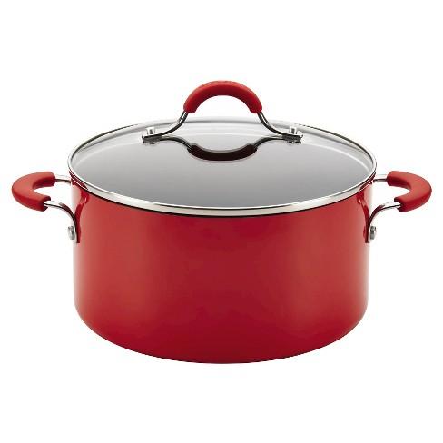 Circulon Innovatum Aluminum Nonstick 4.5 Quart Covered Pot - Red - image 1 of 4
