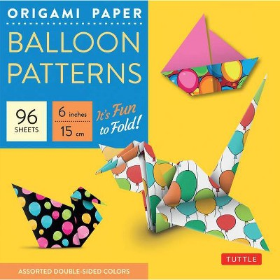 Origami Paper Balloon Patterns 96 Sheets 6 (15 CM) - by  Tuttle Publishing (Loose-Leaf)