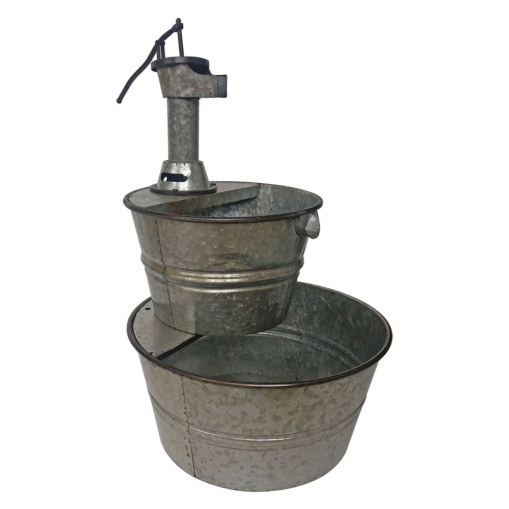 """Image of """"32""""""""H Outdoor Fountain - Gray - Backyard Expressions"""""""