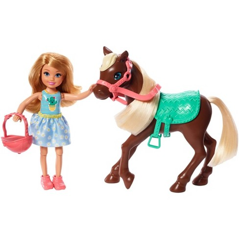 Barbie Club Chelsea Doll and Brown Pony - image 1 of 4