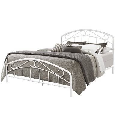 Jolie Metal Bed with Arched Scroll Design White - Hillsdale Furniture