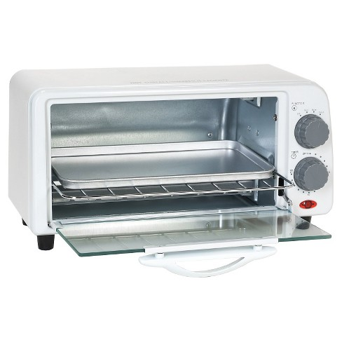 Elite Cuisine 2- Slice Toaster Oven with Broiler & Timer in White