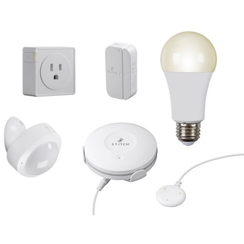 Monoprice Wireless Smart Home Starter Kit - 5 Pieces, No Hub Required, Easy Set Up & Install - From STITCH Smart Home Collection - image 1 of 4