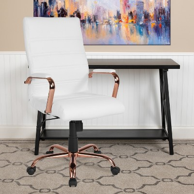 Flash Furniture High Back LeatherSoft Executive Swivel Office Chair with Chrome Base and Arms