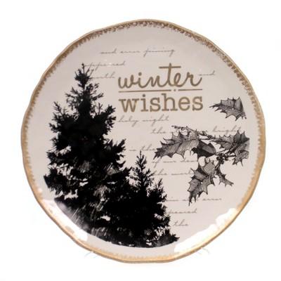 """Tabletop 12.75"""" Winter Wishes Platter Grasslands Road Amscan  -  Serving Platters"""