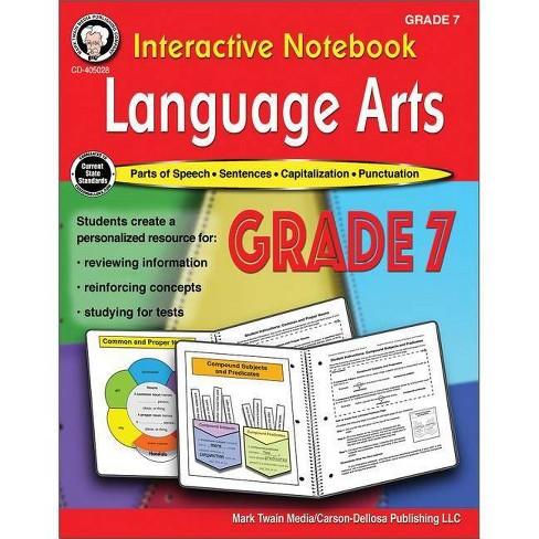 Interactive Notebook: Language Arts Resource Book, Grade 7 - by  Schyrlet Cameron & Carolyn Craig - image 1 of 1