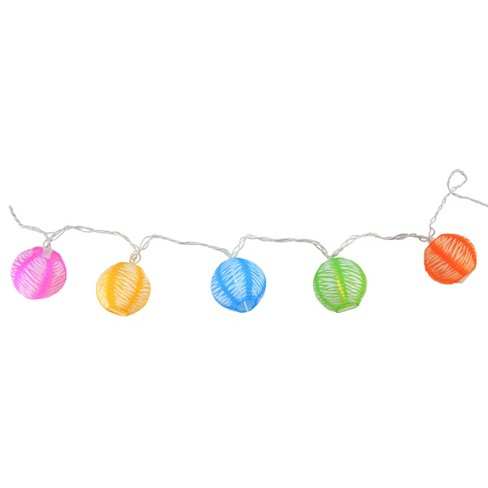 Northlight 10 Multi-Color Round Chinese Lantern String Lights - 7.25ft. White Wire - image 1 of 3