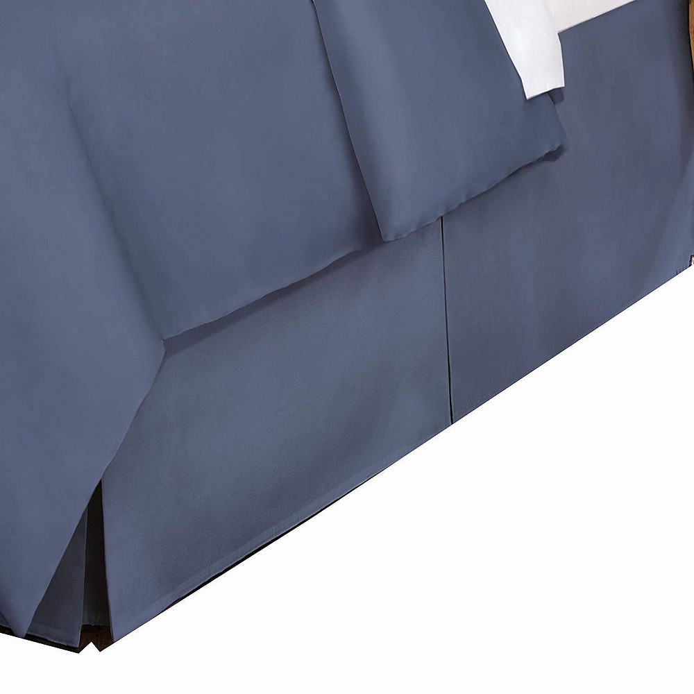 Image of King 400 Thread Count Bedskirt Blue Jean - Belles & Whistles