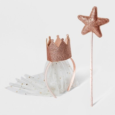 Toddler Girls' 2pk Princess Headband & Wand - Cat & Jack™ Pink