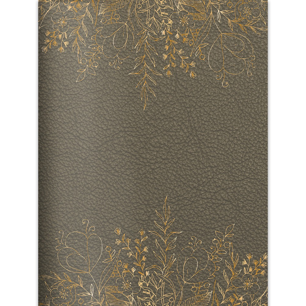 2018 - 2019 Academic Faux Leather Bound Monthly/Weekly Planner - Mushroom/Gold, Mushroom + Gold