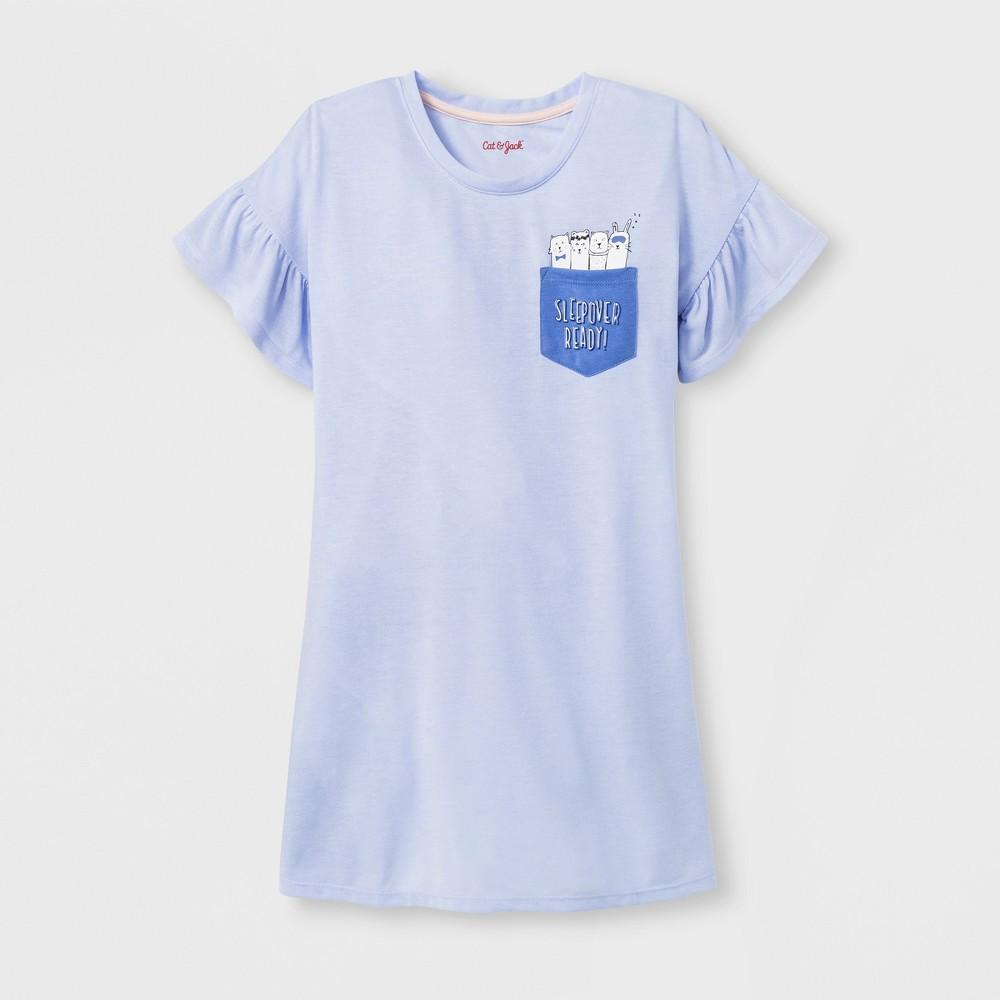 568fa955c Girls Sleepover Ready Nightgown Cat Jack Blue XS