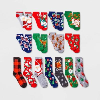 Women's Christmas Morning 15 Days of Socks Advent Calendar - Assorted Colors 4-10